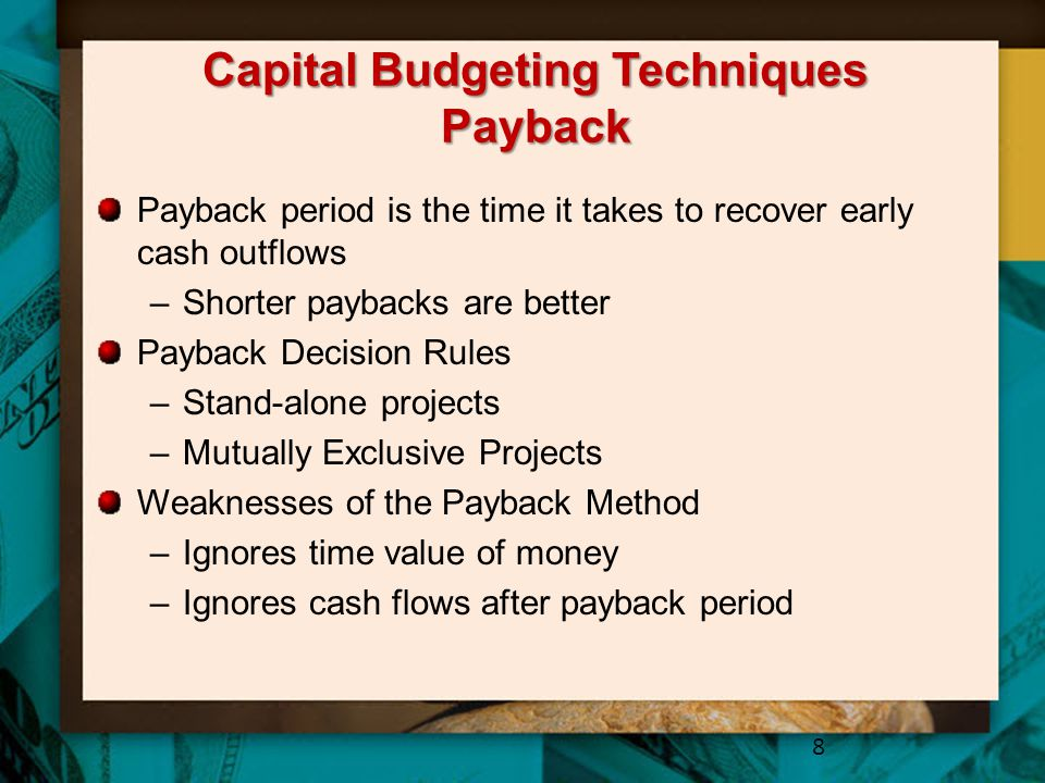 Capital Budgeting Techniques Payback
