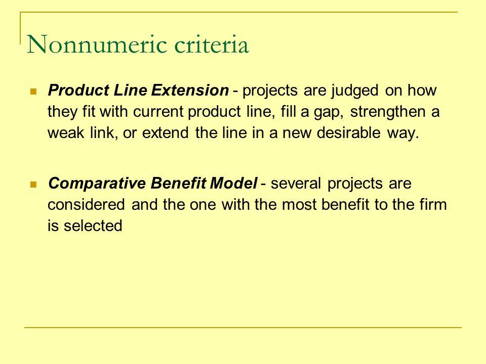 Nonnumeric criteria