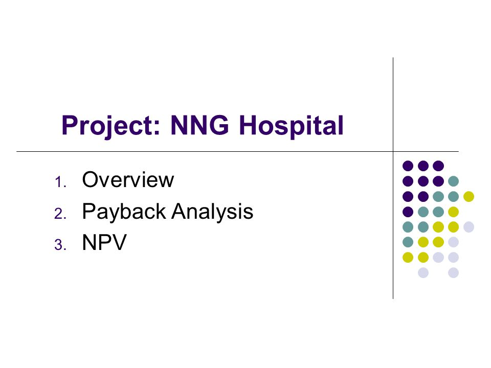 Overview Payback Analysis NPV