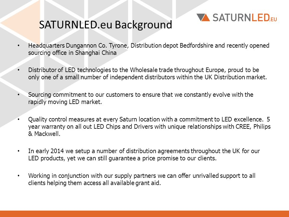SATURNLED.eu Background