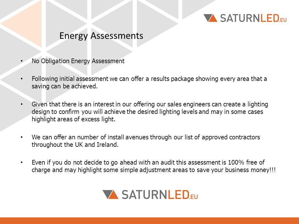 Energy Assessments No Obligation Energy Assessment