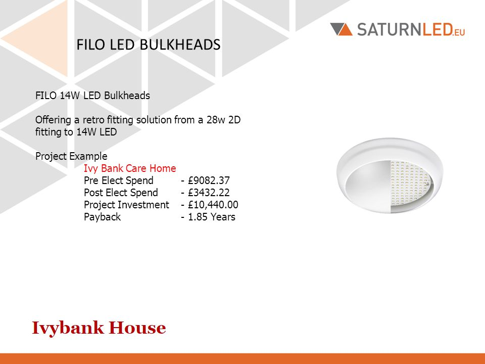 FILO LED BULKHEADS FILO 14W LED Bulkheads