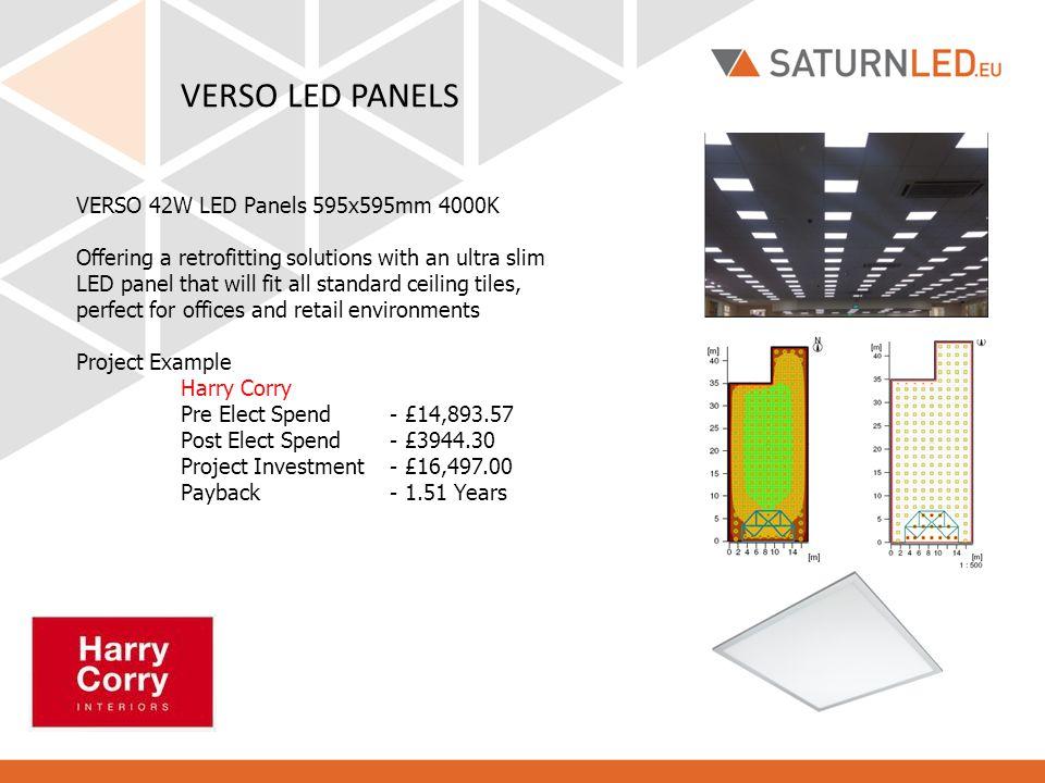 VERSO LED PANELS VERSO 42W LED Panels 595x595mm 4000K