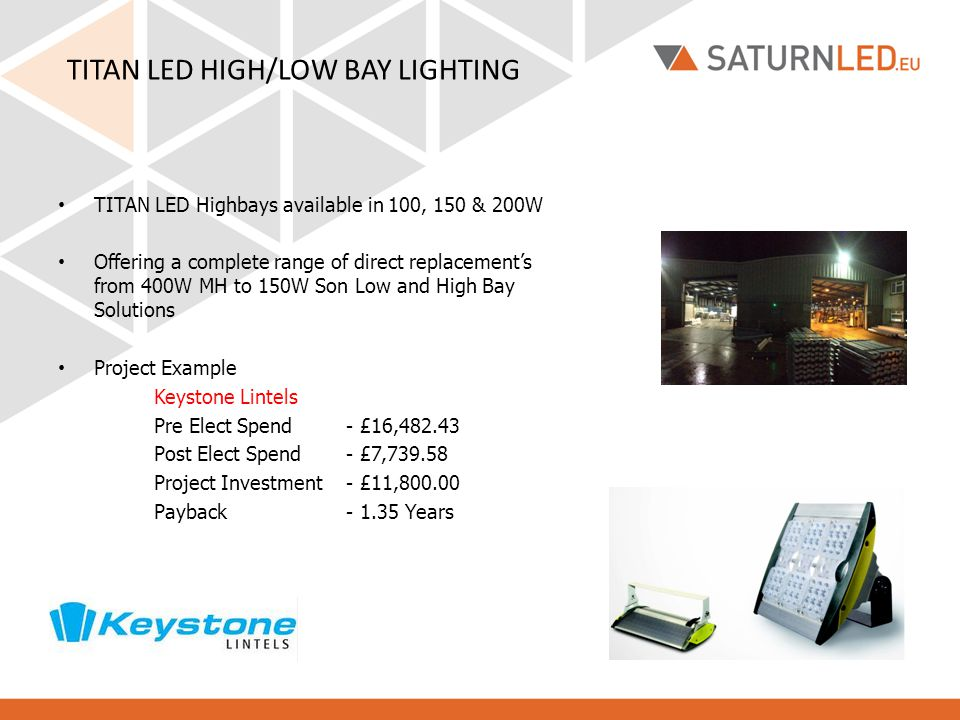 TITAN LED HIGH/LOW BAY LIGHTING