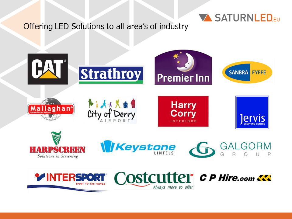 Offering LED Solutions to all area's of industry