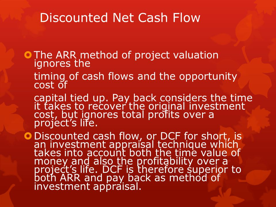 Discounted Net Cash Flow