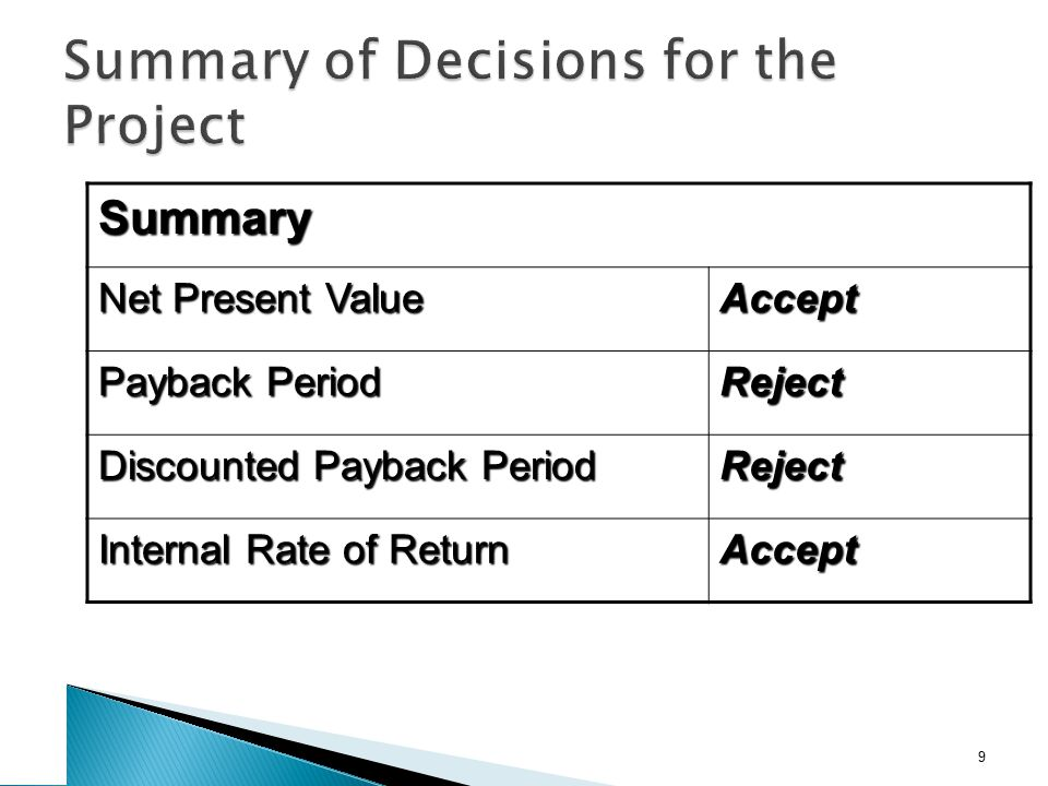 NPV vs. IRR NPV and IRR will generally give us the same decision