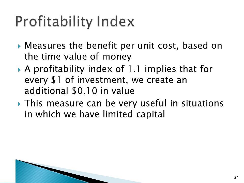 Advantages and Disadvantages of Profitability Index