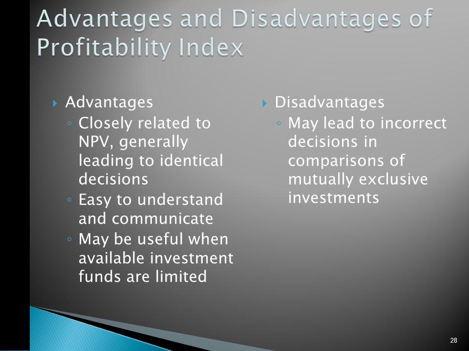 Summary – Discounted Cash Flow Criteria