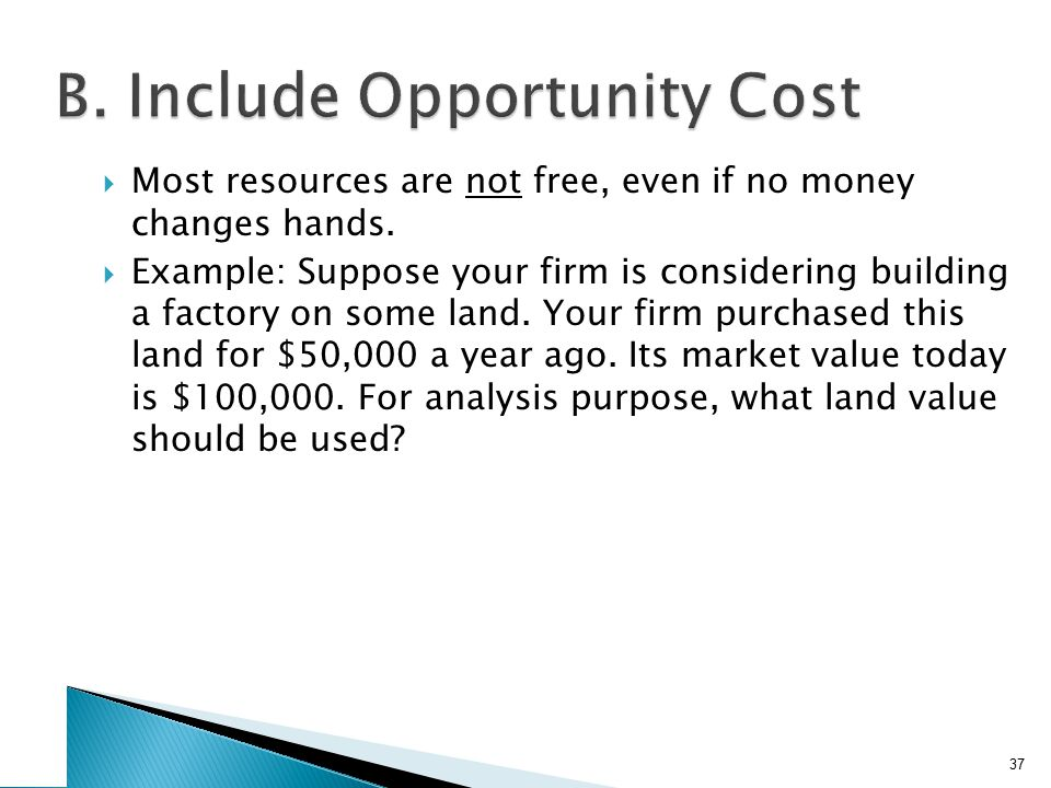 C. Include Side Effects Calculate the firm's cash flows if it goes ahead with the project.