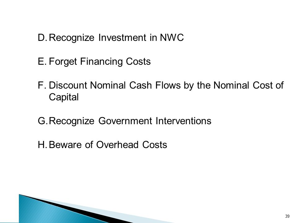 Example: Incremental Cash Flow