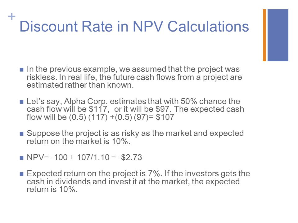 Discount Rate in NPV Calculations