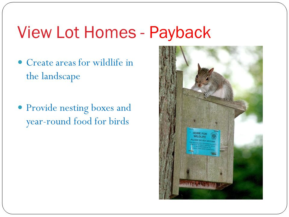 View Lot Homes - Payback