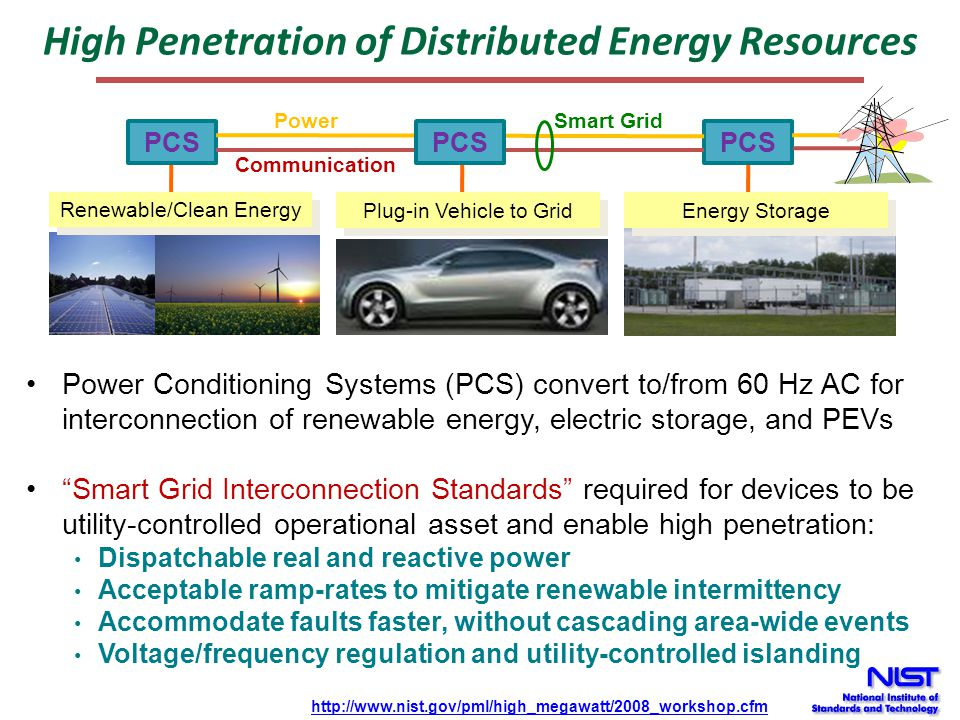 High Penetration of Distributed Energy Resources