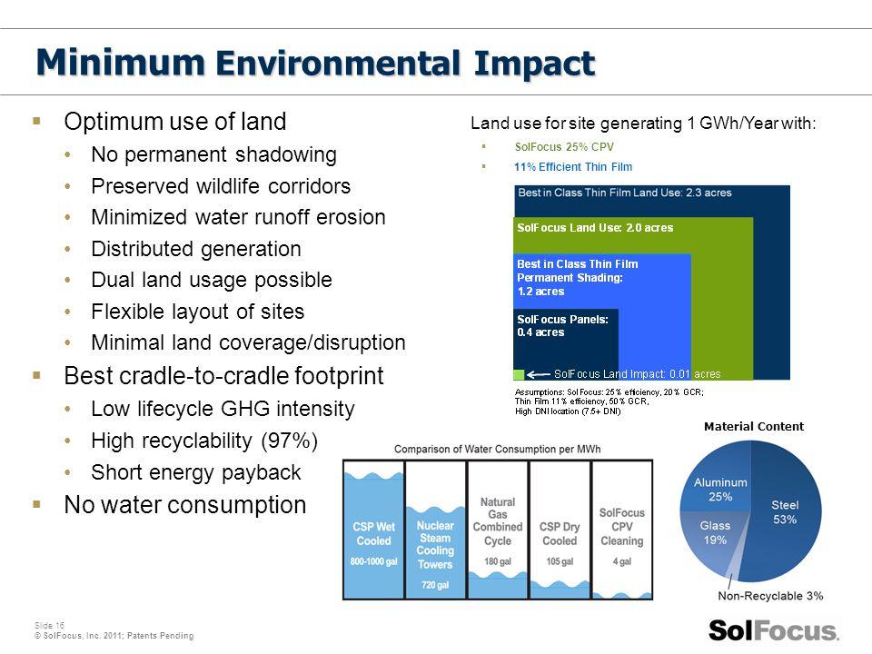 Minimum Environmental Impact