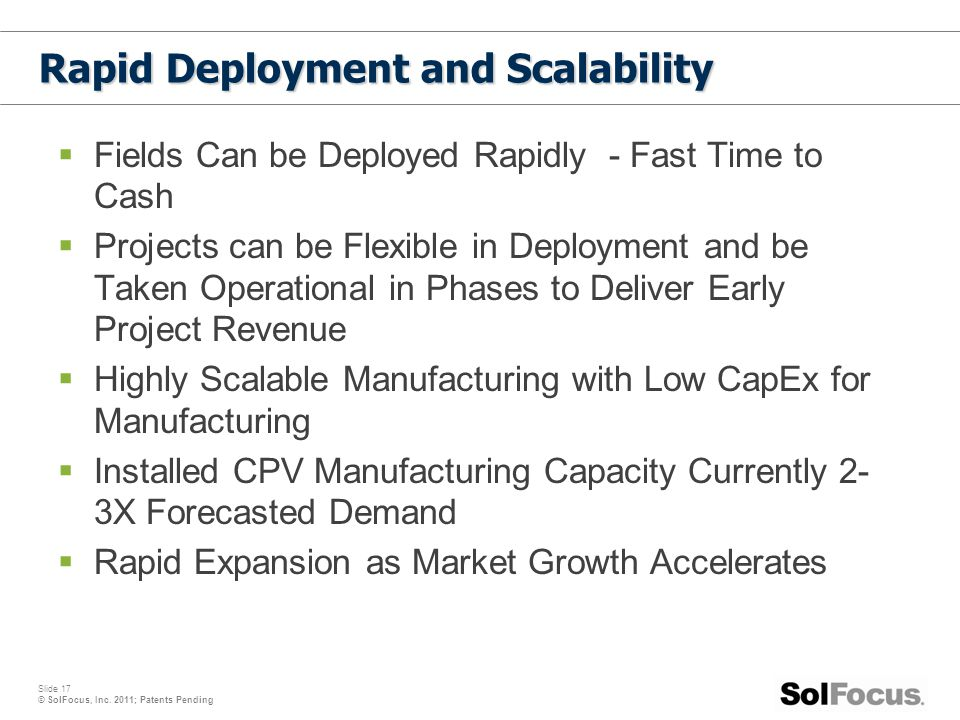 Rapid Deployment and Scalability
