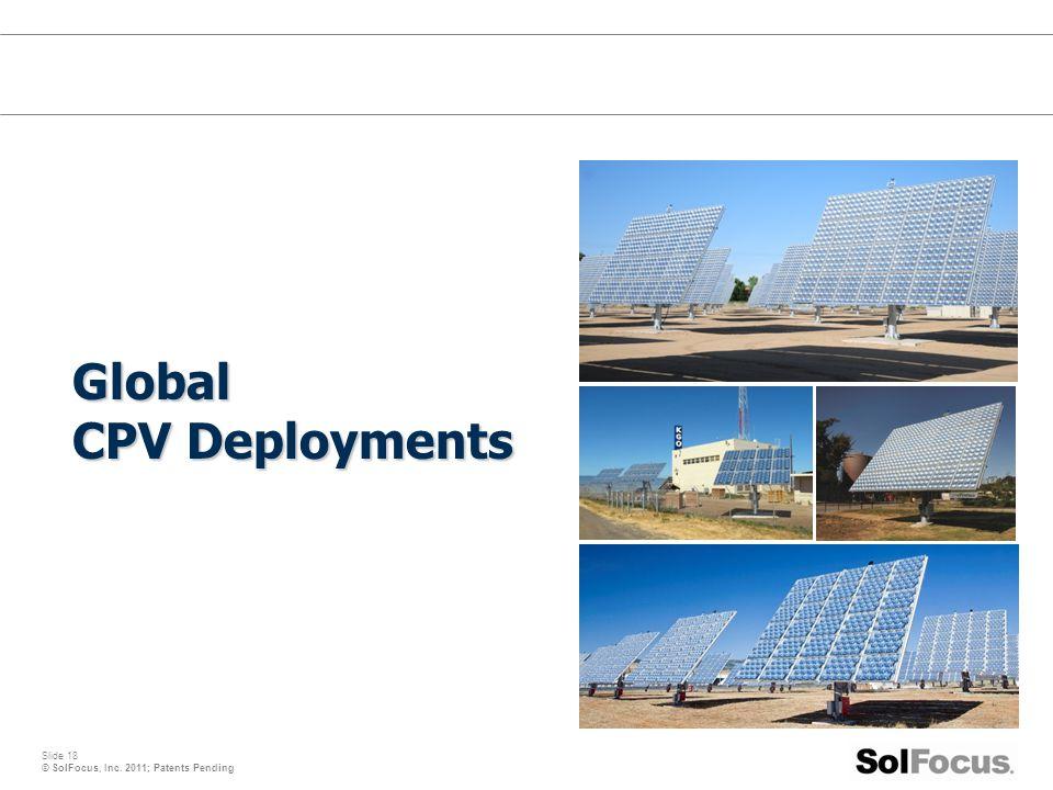 Global CPV Deployments