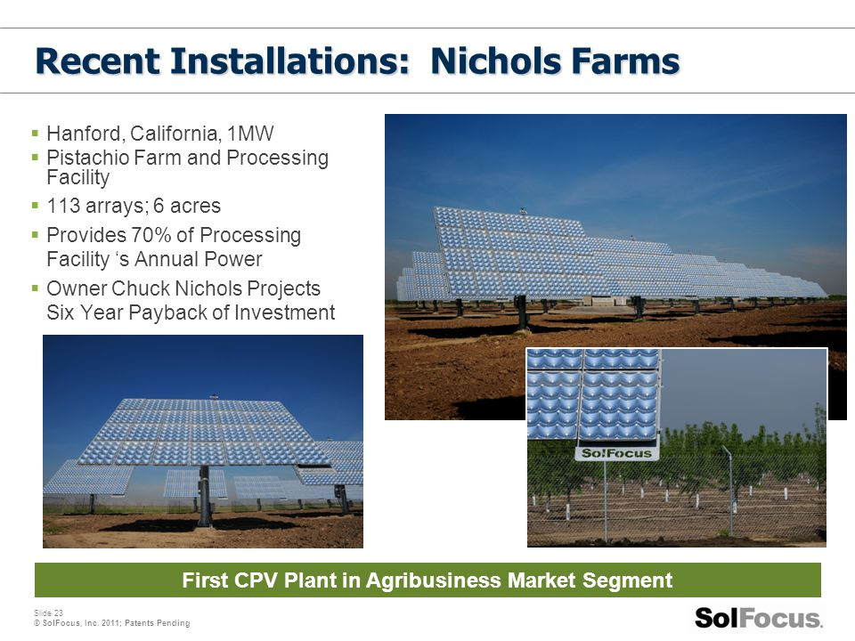 Recent Installations: Nichols Farms