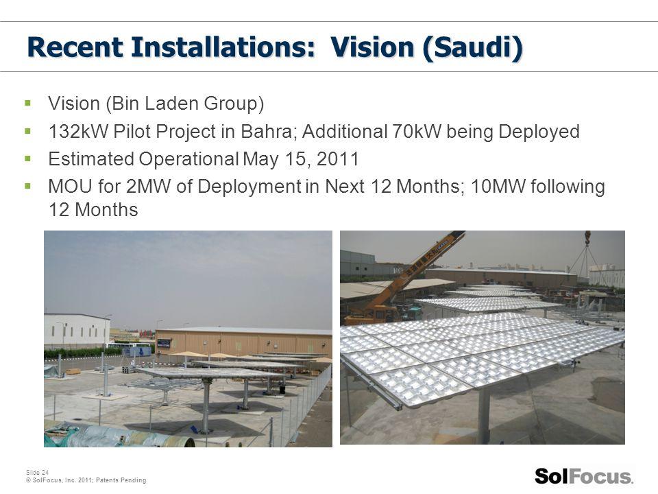 Recent Installations: Vision (Saudi)