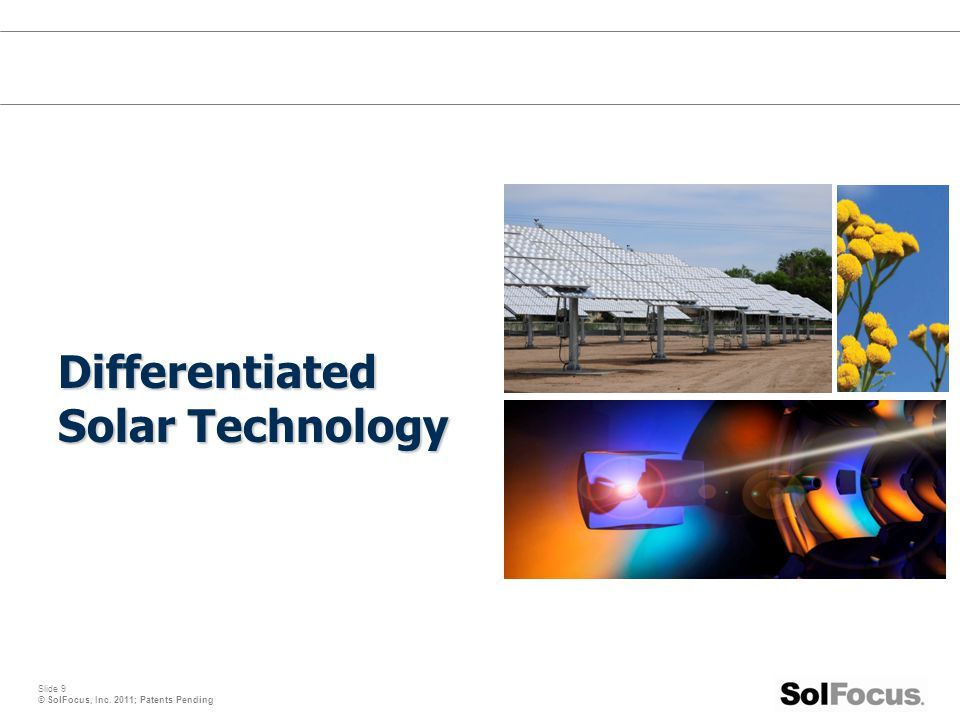 Differentiated Solar Technology