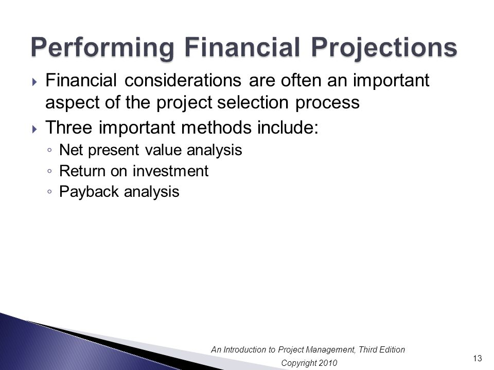Performing Financial Projections
