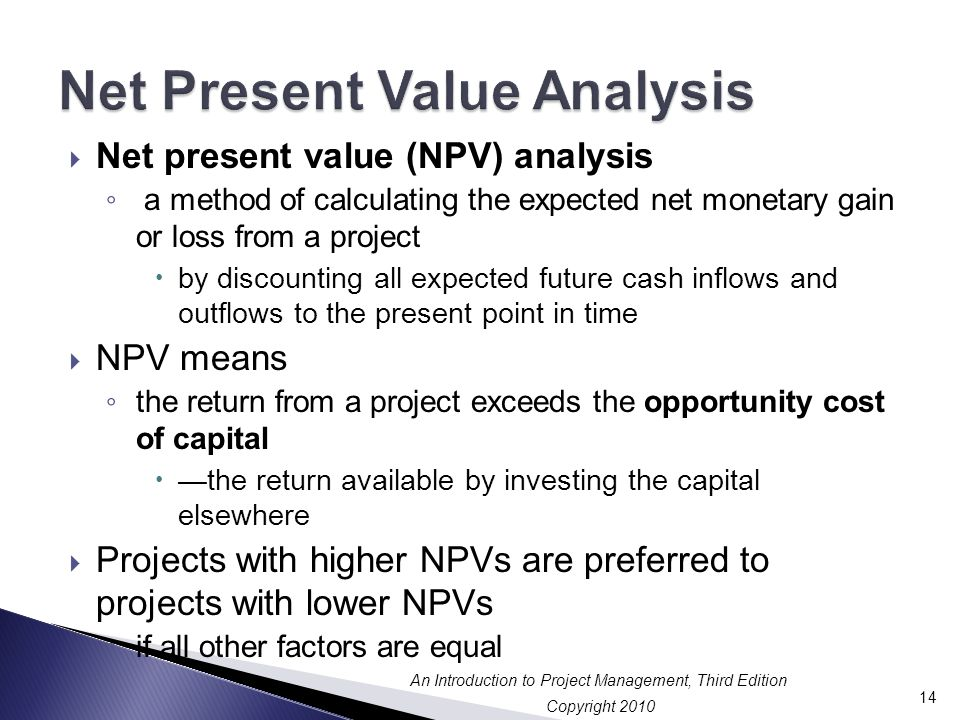 Net Present Value Analysis