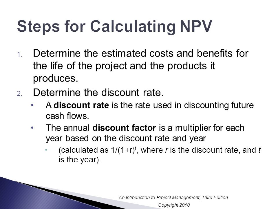 Steps for Calculating NPV