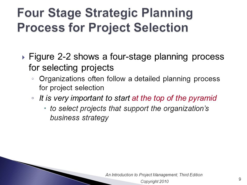 Four Stage Strategic Planning Process for Project Selection