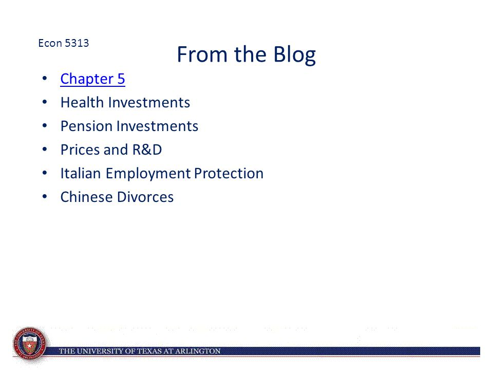 From the Blog Chapter 5 Health Investments Pension Investments