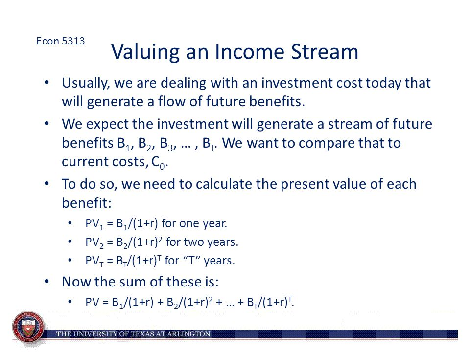 Valuing an Income Stream