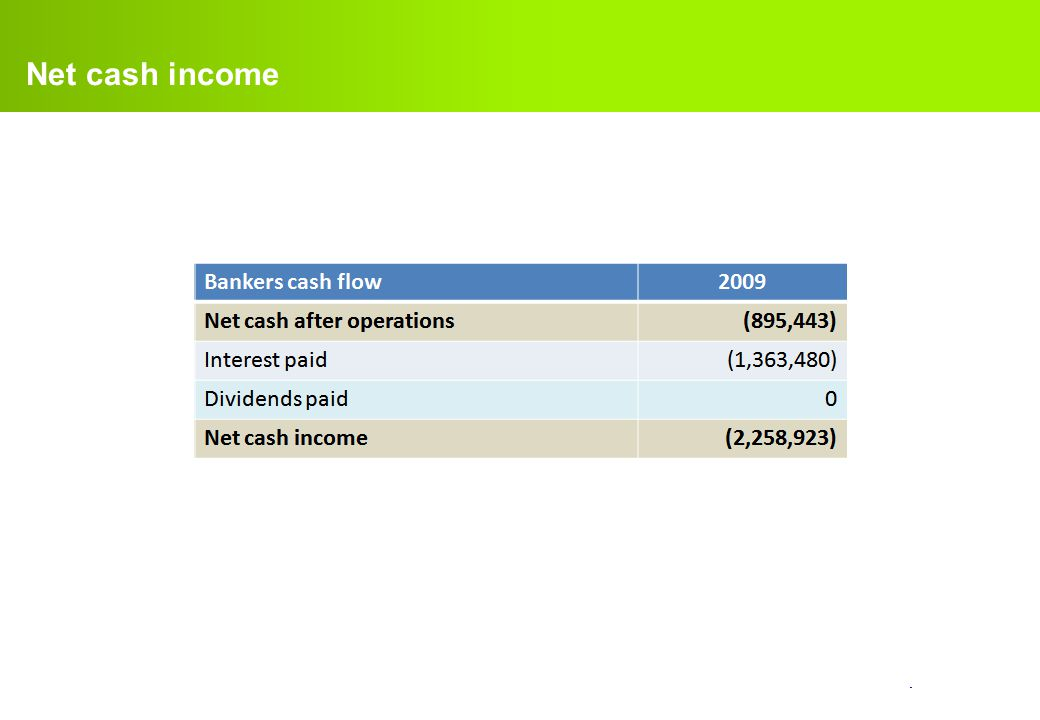 Net cash income