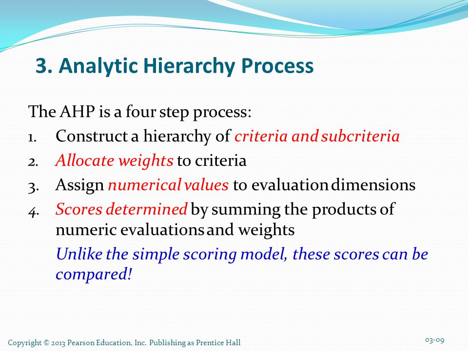 3. Analytic Hierarchy Process