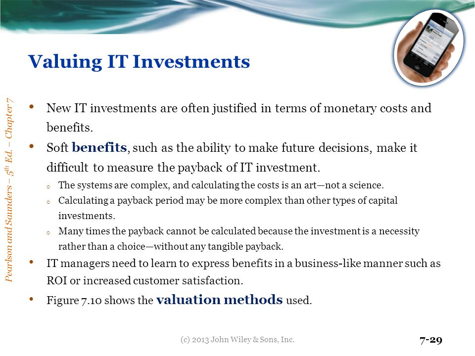 Valuing IT Investments