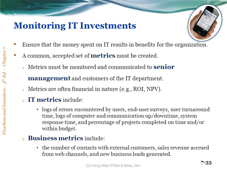 Monitoring IT Investments