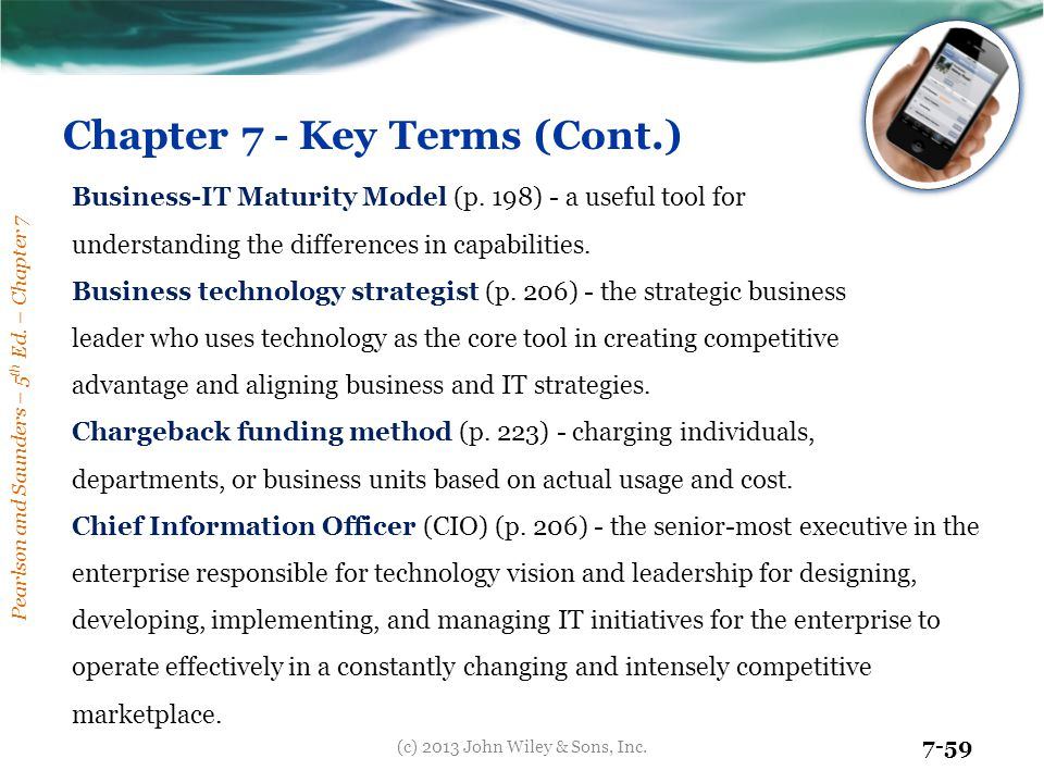 Chapter 7 - Key Terms (Cont.)