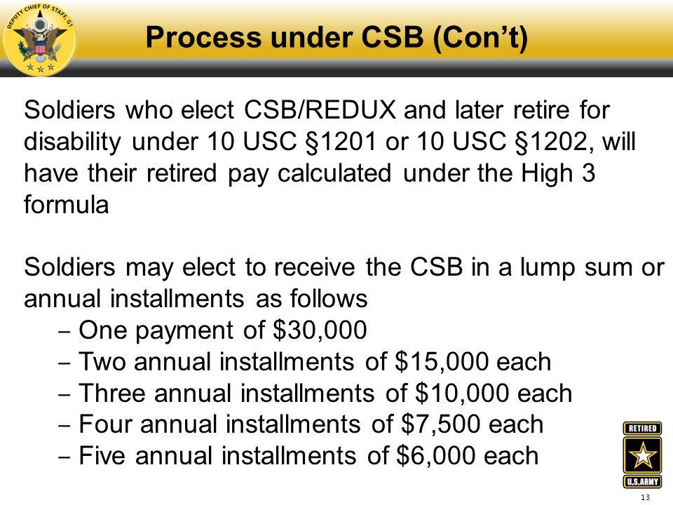 Process under CSB (Con't)