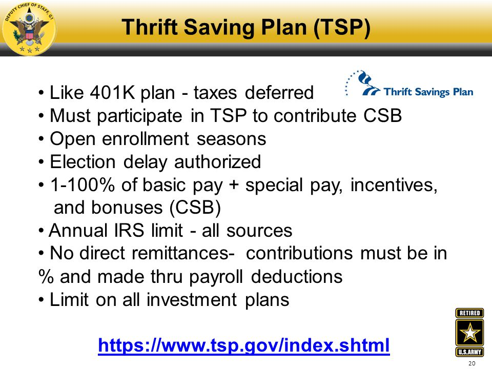 Thrift Saving Plan (TSP)