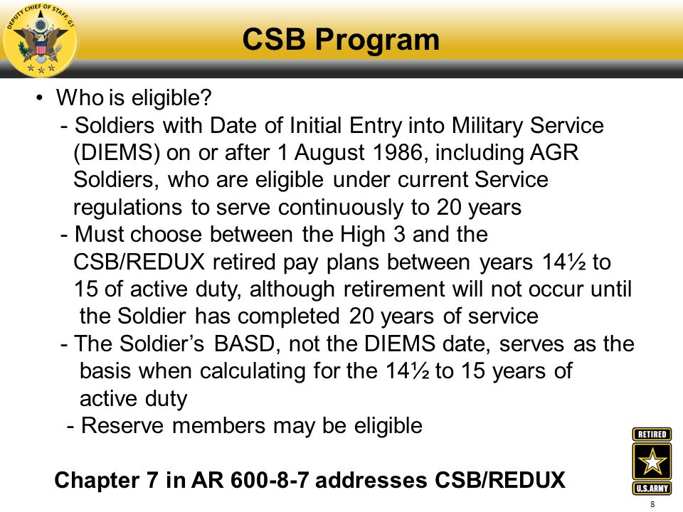 CSB Program Who is eligible