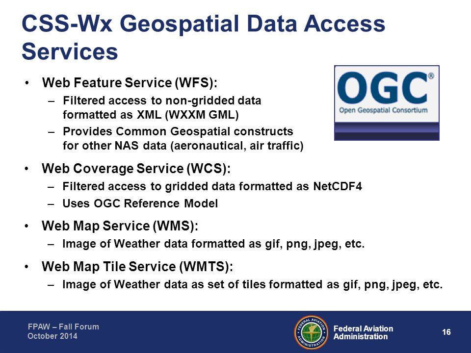CSS-Wx Geospatial Data Access Services