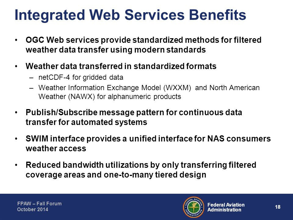 Integrated Web Services Benefits