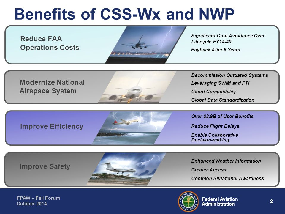 Benefits of CSS-Wx and NWP