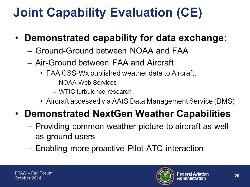 Joint Capability Evaluation (CE)