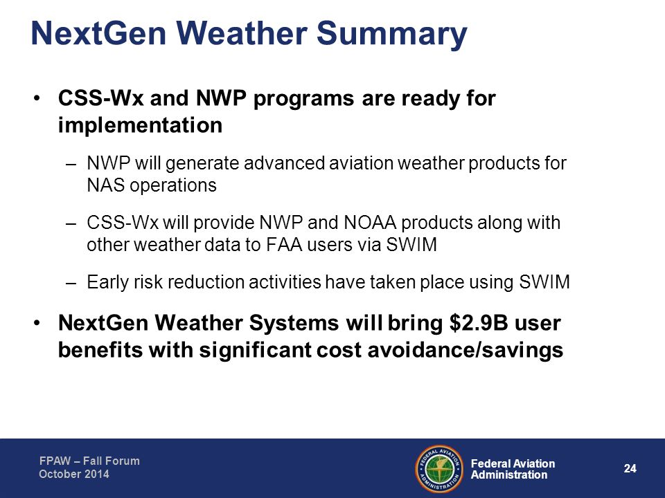 NextGen Weather Summary