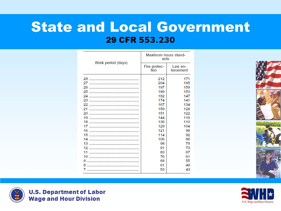 State and Local Government 29 CFR 553.230