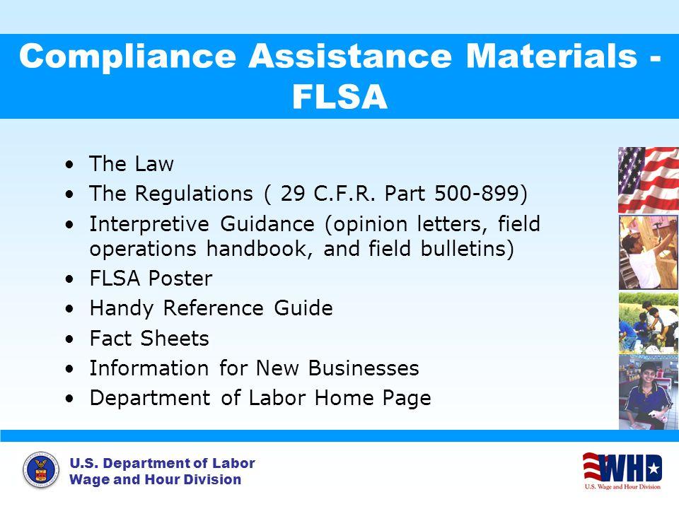 Compliance Assistance Materials - FLSA