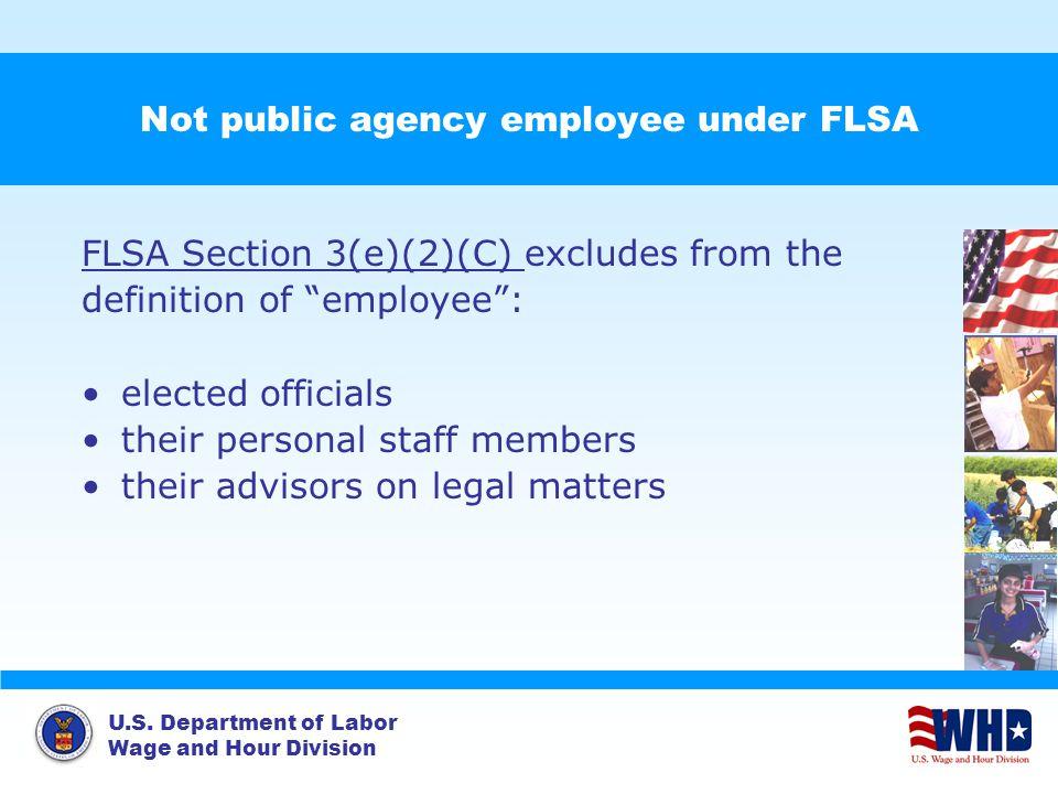 Not public agency employee under FLSA