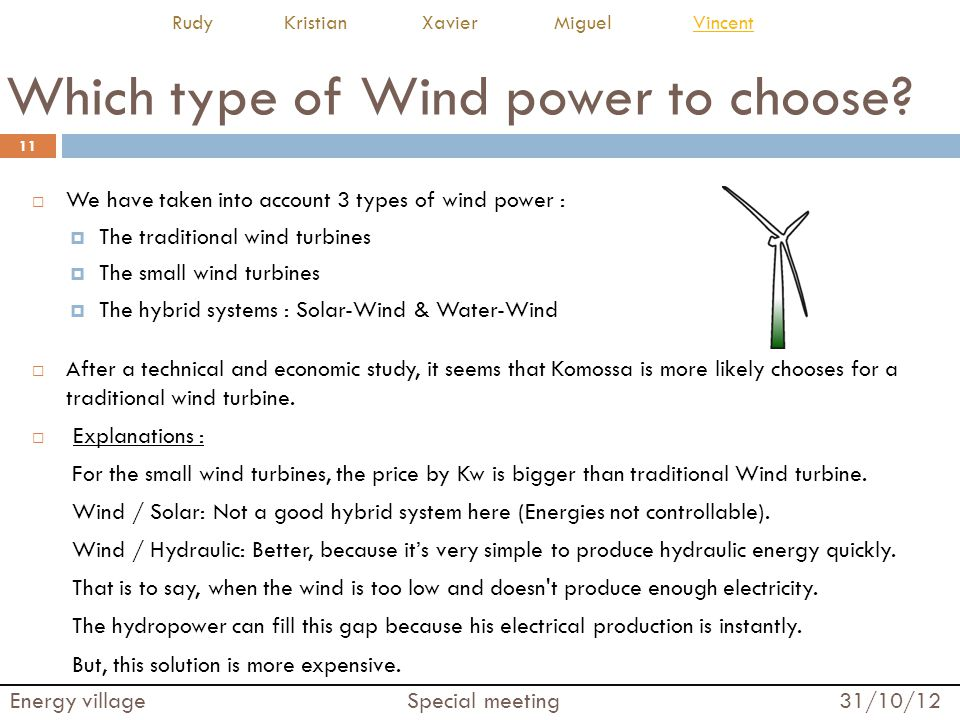 Which type of Wind power to choose