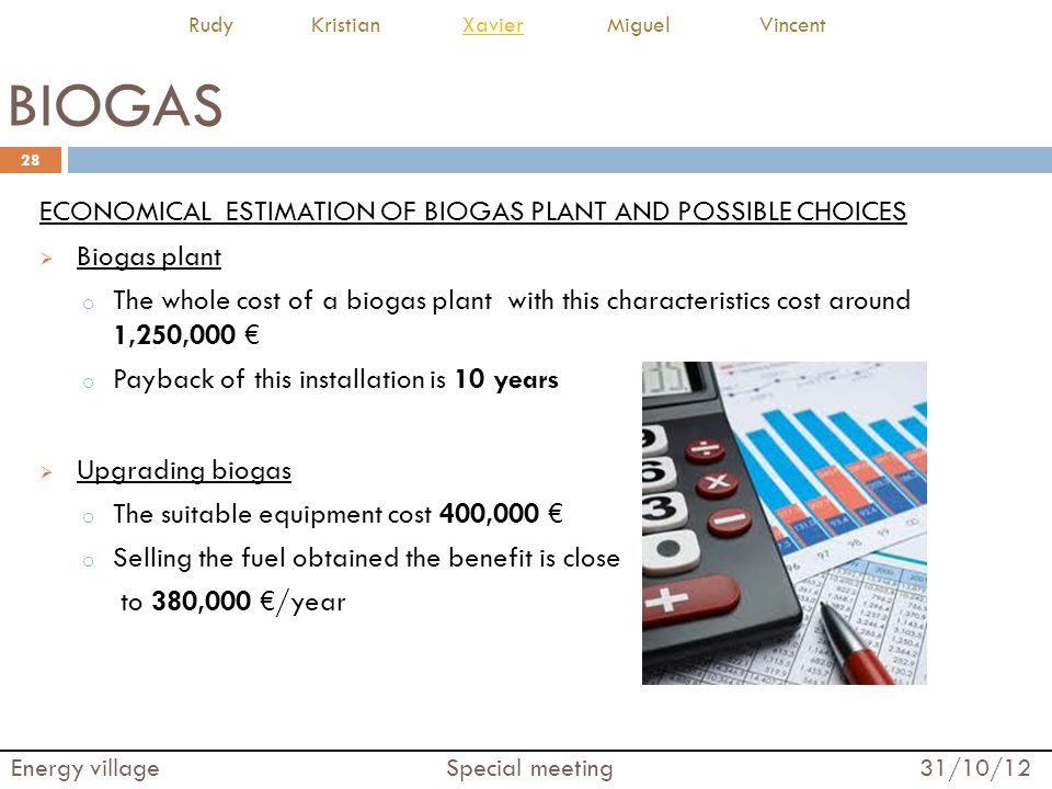 BIOGAS ECONOMICAL ESTIMATION OF BIOGAS PLANT AND POSSIBLE CHOICES