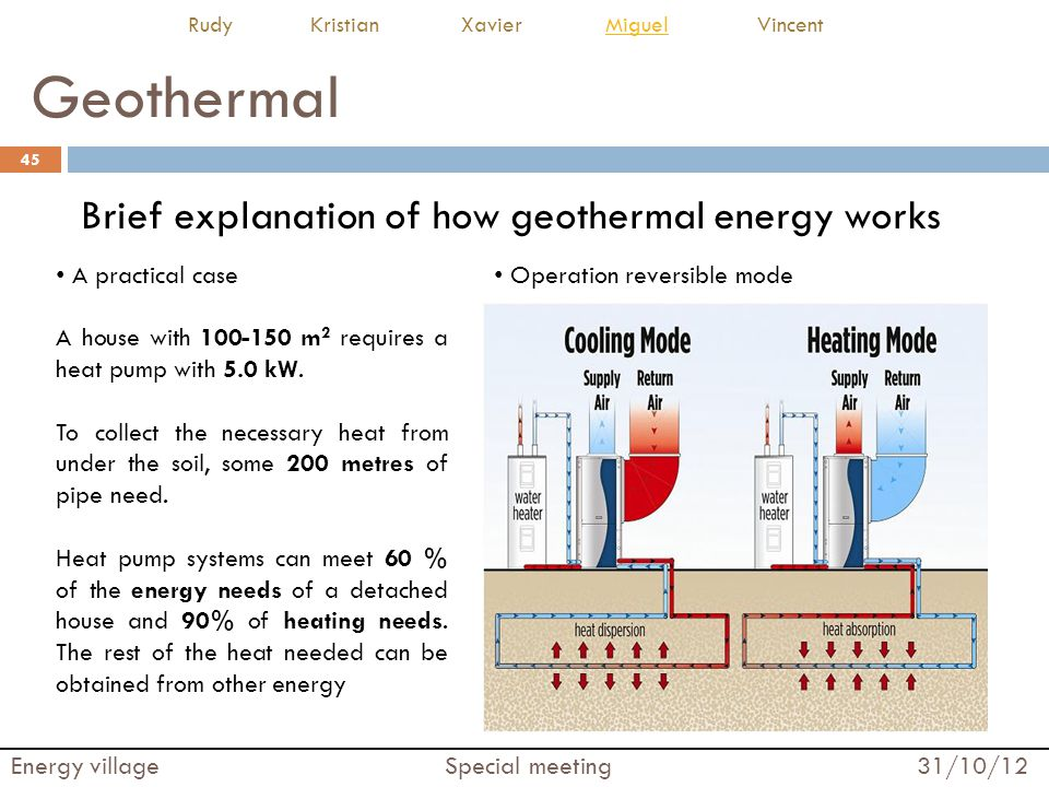 Geothermal Brief explanation of how geothermal energy works
