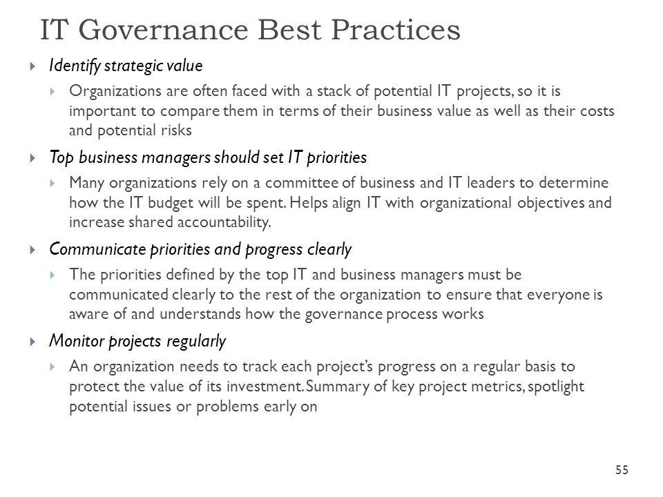 IT Governance Best Practices
